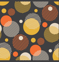 vintage style scattered circle geometry pattern vector image