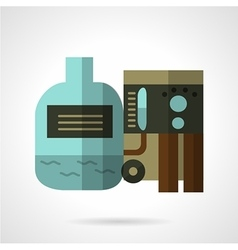 Water purification flat icon vector
