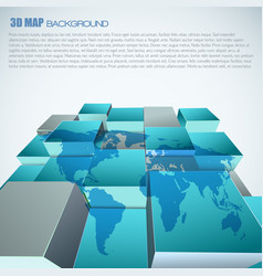 World map 3d abstract background vector