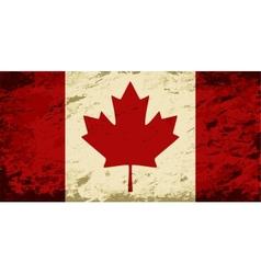 Canadian flag Grunge background vector image vector image