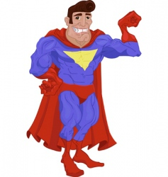 hero cartoon vector image vector image