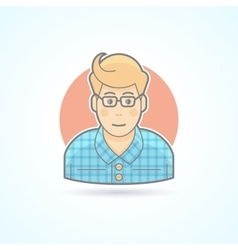 Hipster designer artist icon Avatar and person vector image vector image