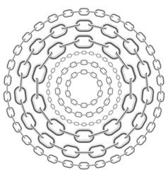 Metallic circle chains vector