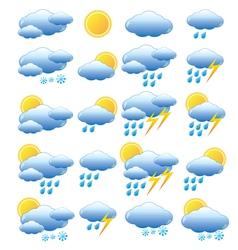 Meteorology set vector