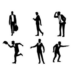 six businessmen in action vector image vector image