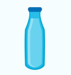 Blue bottle with liquid vector