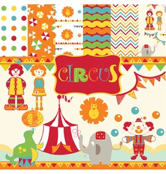 Circus wallpaper print vector
