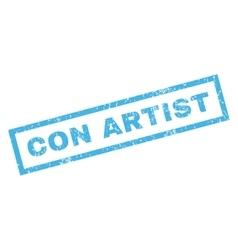 Con artist rubber stamp vector