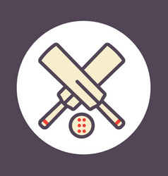 cricket icon with outline vector image vector image