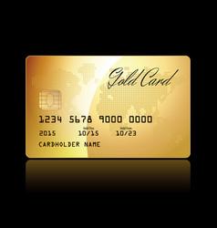gold card conceptual vector image