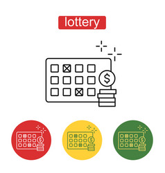 lottery line icon editable stroke vector image