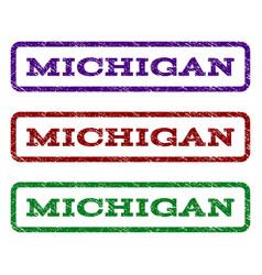 michigan watermark stamp vector image vector image