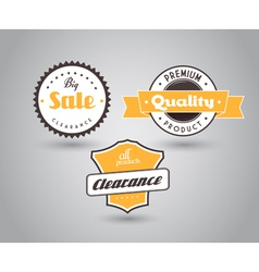 Set of colored badges with big sale sign vector image vector image