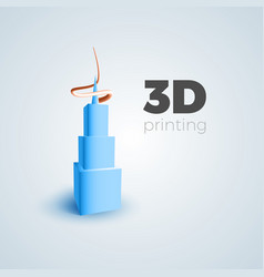 3d printing concept vector image vector image