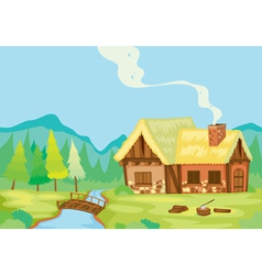 a house in nature vector image vector image