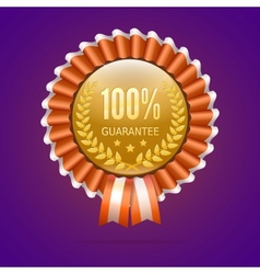 Badge 100 guarantee vector image