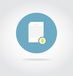 Document download icon vector image vector image