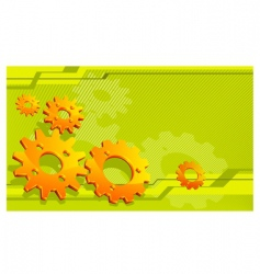gears technical background vector image vector image
