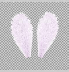 realistic rabbit bunny easter ears vector image vector image