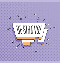 be strong retro design element in pop art style vector image