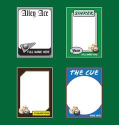 Billiards Cards vector image vector image