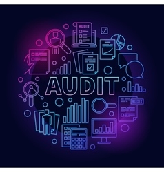 Business audit colorful vector image vector image