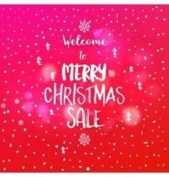 Christmas sale discount card vector image