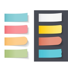 Colored Sticky Papers vector image vector image