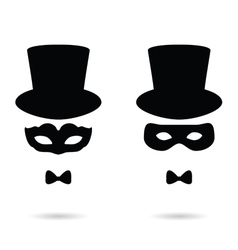 face man with mask vector image vector image