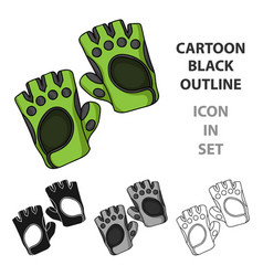 gym gloves icon in cartoon style isolated on white vector image vector image