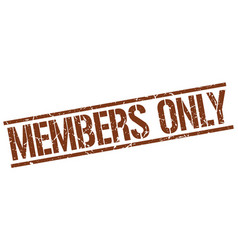 Members only stamp vector