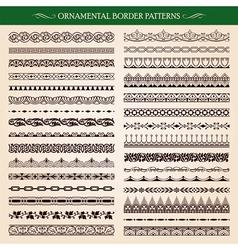 Ornamental Border Frame Patterns vector image vector image