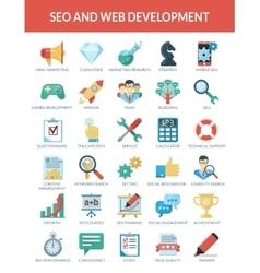 SEO and WEB development vector image vector image