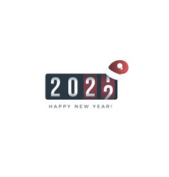 2020 new year analog counter display vector image
