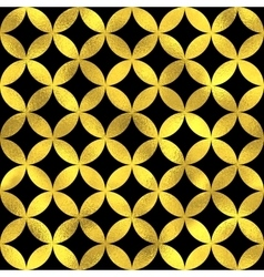 Abstract golden scaled seamless pattern vector image