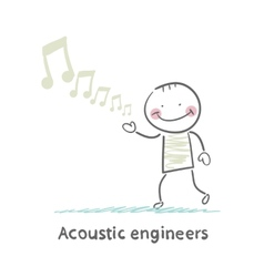 Acoustic engineer with notes vector