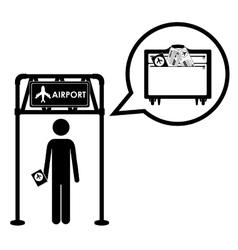 airport industry design vector image