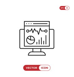 analytics icon vector image