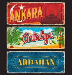 Ankara antalya and ardahan turkey il provinces vector