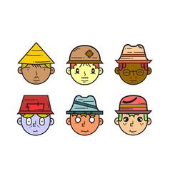 Asset head character vector