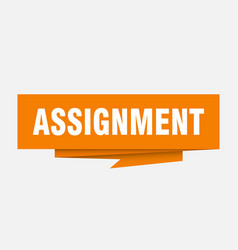 Assignment vector