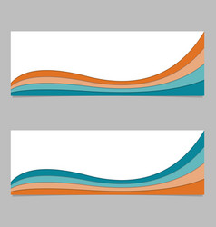 Banner background from curved layers - graphic vector