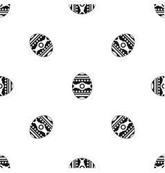 beautiful easter egg pattern seamless black vector image