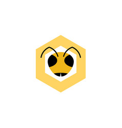 bee head logo symbol icon vector image