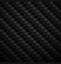 Black carbon textured background with fiber weave vector