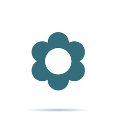 Blue flower icon isolated on background modern fl vector