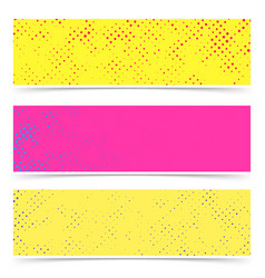 bright empty colorful dotted abstract pop art vector image