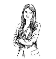 Businee woman vector image