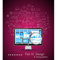 Business Solution and Idea Conceptual background vector image
