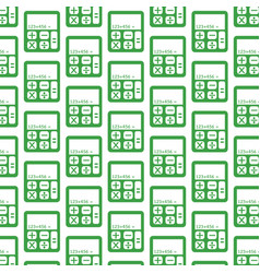 calculator pattern background vector image